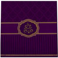 A sturdy looking fabric invitation reveals beauty itself. Card front has amazing laser cut design along with light background imprints. It comes with superb flowery design inserts and envelope to, it's gorgeous..!