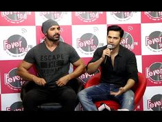 Varun Dhawan & John Abraham promotes DISHOOM at Fever 104 FM. Varun Dhawan Latest News, Dishoom, John Abraham, Gossip, Promotion, Interview, Music, Youtube, Movie Posters