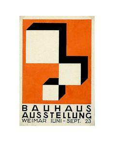 Bauhaus Ausstellung, 1923. Gouache, 6 1/16 x 4 1/8 inches. Designer: Herbert…