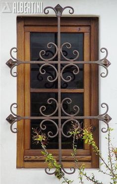 Windows, doors, and sliders in wood and bronze clad - for your home.Albertini: Windows, doors, and sliders in wood and bronze clad - for your home. Iron Windows, Iron Doors, Windows And Doors, Balcon Grill, Burglar Bars, Window Bars, Window Grill Design, Iron Window Grill, Wrought Iron Decor