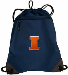University of Illinois Drawstring Bag Backpack Fighting Illini Logo OFFICIAL College Logo Drawstring Bags - For School Beach Gym by Broad Bay. $17.99. This uniquely designed flexible mesh-backed University of Illinois drawstring bag backpack is the perfect bag for books, a change of clothes, a pair of shoes, or a towel for the pool or beach. The front features sophisticated-look microfiber fabric while the back is a super strong stretchable mesh. The zippered compartment i...