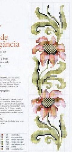 Gallery.ru / Фото #56 - KWIATY 2 - aaadelayda Cross Stitch Geometric, Cross Stitch Borders, Cross Stitch Flowers, Cross Stitching, Cross Stitch Patterns, Diy Embroidery, Cross Stitch Embroidery, Embroidery Patterns, Cross Stitch Bookmarks