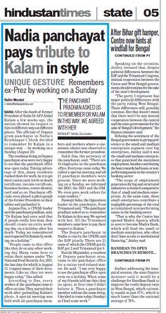 Hindustan Times (Kolkata Edition, dated 24.08.2015)