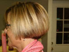 Loveing the rounded affect to this bob cut just above the chin. #hairstyle. Chin Length Cuts, Grown Out Pixie, Grow Out, Pixie Hairstyles, Bob Cut, Hair Styles, Women, Hair Plait Styles, Pixie Haircuts