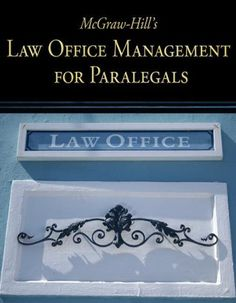 McGraw-Hill's Law Office Management for Paralegals by Higher Education McGraw-Hill. $53.86. Publisher: McGraw-Hill/Irwin; 1 edition (January 30, 2008). Publication: January 30, 2008. Edition - 1