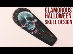 Skull Design, Halloween Skull, Gel Nails, Glamour, Videos, Youtube, Gel Nail, The Shining, Youtubers