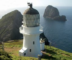 An unusual but thoroughly enjoyable project for the Studio, the restoration of the 1906 Cape Brett lighthouse was completed in Lighthouse Pictures, Beacon Of Light, House Drawing, Light House, Windmills, Abandoned Buildings, Wizards, Beautiful Images, New Zealand