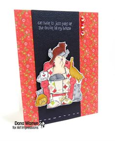 Art Impressions Rubber Stamps:  Crazy Cat Lady clear stamp set from Michael's.