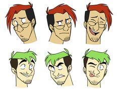 MarkJackFaces by cartoonjunkie.deviantart.com on @DeviantArt