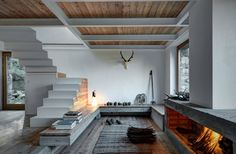 Gravity Home: A Cabin in Wood and Concrete in the Italian Alps