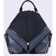 Diesel LE-MHONIC Backpacks ($330) ❤ liked on Polyvore featuring bags, backpacks, blue jeans, women, rucksack bags, backpack bags, knapsack bag, blue backpack and diesel bags