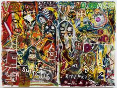 "Bernier/Eliades Gallery | Jonathan Meese | ""FERKL'-OBERSTL'-BANNNANNE (DR. PULLEROBST)"", 2011 