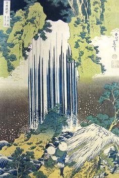 Hokusai - Cascade de Yoro