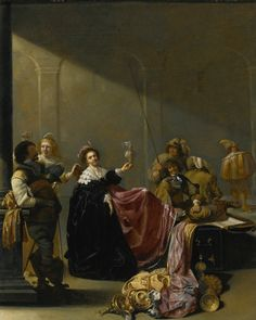 Jacob Duck, A Guardroom Interior with a Seated Woman amongst Plunder