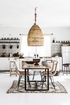 Inspi vintage récup dans cette cuisine-salle à manger