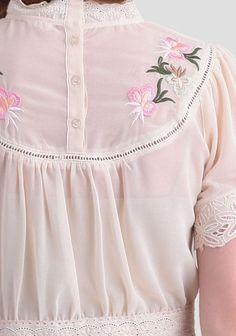 Penny Embroidered Blouse | Modern Vintage Clothing