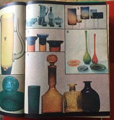 Magazyn Opinia 1971 Mid Century Design, Art Deco, Porcelain, Antiques, Bottle, Glass, Interior, Poster, Vintage
