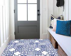 Tile Decals Tiles for Kitchen/Bathroom Back splash Floor | Etsy Floor Decal, Floor Stickers, Tile Decals, Vinyl Tiles, Kitchen Tiles, Kitchen Design, Kitchen Countertops, Kitchen Cabinets, How To Install Wallpaper