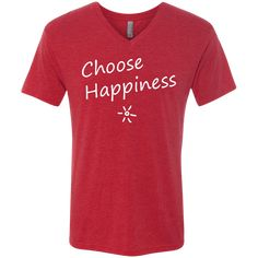 Choose Happiness Men's Travel V-Neck T-Shirt
