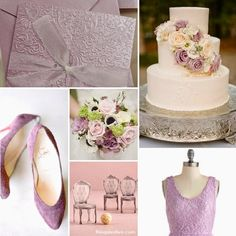Pantone Mauve Mist Wedding Inspiration #wedding #theme #ideas #mauvemist