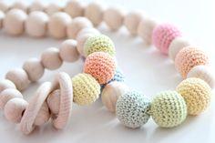 Set of Natural Organic Nursing necklace by ZanesCrochetTreasure