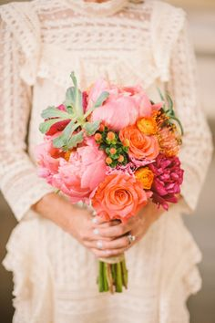 Rustic bouquet: http://www.stylemepretty.com/little-black-book-blog/2014/10/21/rustic-bohemian-colorado-rocky-mountain-wedding/ | Photography: KJ & Rob - http://www.kjandrob.com/