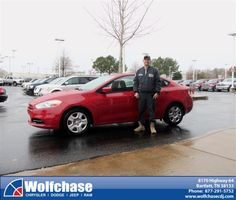 #HappyAnniversary to Dennis Cantrel on your 2013 #Dodge #Dart from Michael Foster at Wolfchase Chrysler Jeep Dodge!