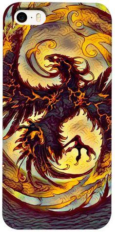 NBK Dark Phoenix Custom Fable Rave Fantasy Style iPhone Case by Willy Badu.