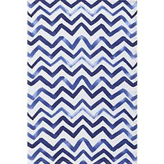Watercolor Chevron Dishtowel in Kitchen Linens | Crate and Barrel