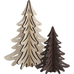 Laser Cut Christmas Trees   Crate & Barrel - makes me miss school!
