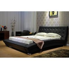 Create an elegant display of modern prowess with this black arch platform bed. It comes with a European slats kit so you can set it up, admire it, then dream about how relaxing and stylish it is.