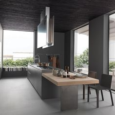 Looking for grey kitchen ideas? If you're looking for an alternative to white kitchen units, you can't go wrong with grey cabinetry and grey kitchen tiles Kitchen Dinning, Glass Kitchen, New Kitchen, Kitchen Decor, Kitchen Ideas, Kitchen Time, Awesome Kitchen, Grey Kitchen Designs, Modern Kitchen Design