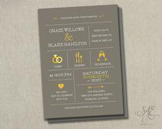 Wedding Invitation Invitations Invite Invites by SAEdesignstudio