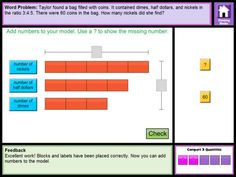 Thinking Blocks Ratios teaches children how to model and solve word problems with the Singapore Bar Model Method. The website has been available for almost 10 years, now in an easy to use ipad format.  Opinion?  Best bar model app out there. And they're free.