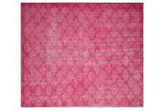 Overdyed Trellis Rug, Pink on OneKingsLane.com