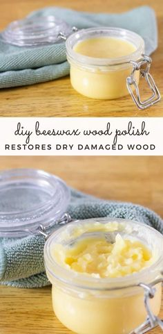 This DIY beeswax furniture will clean and shine your furniture. Made with oil and wax, it is cost-effective, all-natural, and easy to make. #beeswaxwoodpolish #diyfurniturepolish #naturalcleaners #homemadecleaners #homemadewoodpolish