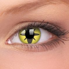 1 Day Use Yellow Flower Coloured Contact Lenses (1 Day)