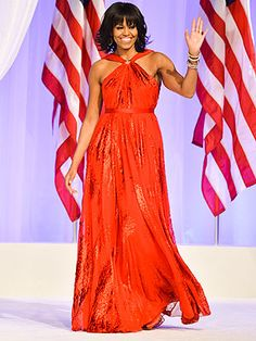 The First Lady in Red Gown by Jason Wu