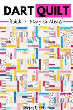 This beautiful, scrappy quilt is made up of small blocks. It is simple to make and perfect for beginning quilters, video tutorial included! The quilt can be made from fat quarters or even fabric scraps. Our pattern is available in PDF or paper copy and can be made into 3 sizes: baby, throw, and twin. #scrapquilt #easyquilting #beginnerquilt Jelly Roll Quilt Patterns, Beginner Quilt Patterns, Quilting For Beginners, Quilt Tutorials, Traditional Quilt Patterns, Modern Quilt Patterns, Modern Quilting, Jellyroll Quilts, Easy Quilts