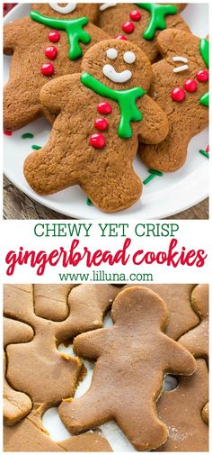 Homemade Gingerbread Cookies are perfect for decorating and better than store bought variety. These Gingerbread Cookies are soft with slightly crispy edges and a delicious ginger molasses flavor. Perfect for Christmas! Christmas Deserts, Christmas Treats, Christmas Baking, Christmas Parties, Italian Christmas, Holiday Treats, White Christmas, Christmas Time, Xmas