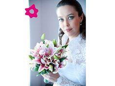bouquet de lirios rosa