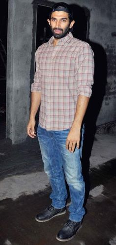"Aditya Roy Kapoor at the special screening of ""Bobby Jasoos."""