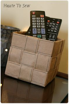"""next time the checker asks you """"paper or plastic"""", I suggest paper ... this is a brown paper bag basket!"""