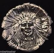 Unger bros. antique sterling silver indian chief tray