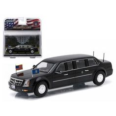 """2009 Cadillac """"The Beast"""" Barack Obama Presidential Limousine 1/43 Diecast Model Car by Greenlight"""