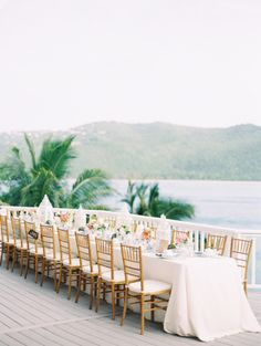 dining waterside #destination #reception #tablescapes #beach Photography by claryphoto.com  Read more - http://www.stylemepretty.com/2013/09/19/st-thomas-wedding-from-clary-pfeiffer/