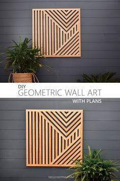 Wood Wall Art Decor, Diy Wood Wall, Reclaimed Wood Wall Art, Diy Wall Art, Scrap Wood Art, Scrap Wood Projects, Juniper Wood, Geometric Wall Art, Unique Wall Art