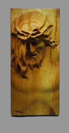 Religious Wood Carving Handmade Jesus Wall by TheBackToNatureShop