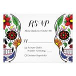 Colorful Floral Sugar Skull RSVP Reply Card