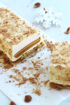 Bûche vanille, pomme et caramel | Contes et Délices